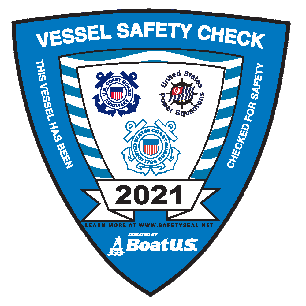 2021 Vessel Safety Check Decal
