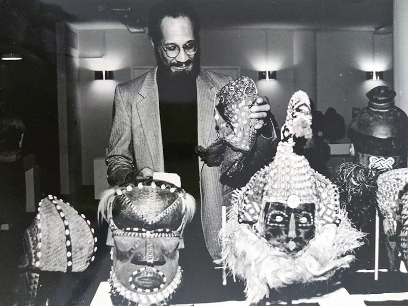 Cleve with Zairian Masks