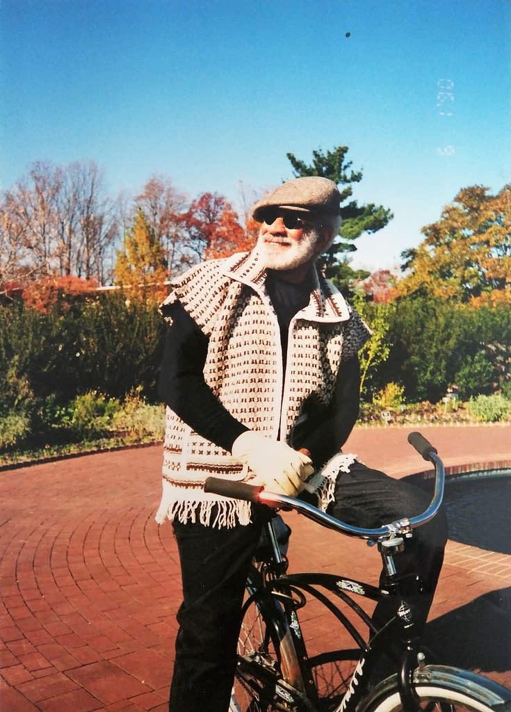 Cleve biking in DC in 2001